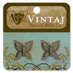 Vintaj Natural Brass Co. - [C4H40R] Filigree Butterflies