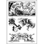 Alpha Stamps Unmounted Rubber - Cherubs Sheet
