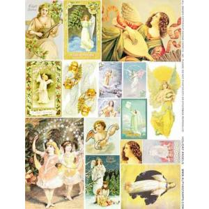Alpha Stamps Collage Sheet - Holiday Angels [CS01-934] - ON SALE!