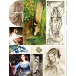 Alpha Stamps Fabric Sheet - Ophelia 1 - ON SALE!