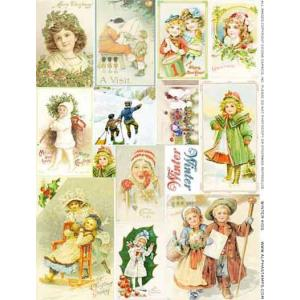 Alpha Stamps Collage Sheet - Winter Kids [CS01-931] - ON SALE!