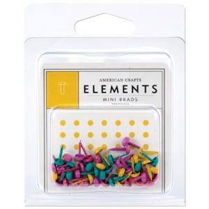 American Crafts Elements - Mini Brads - Tropicals [85377]