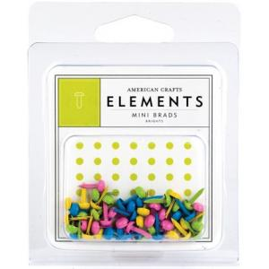 American Crafts Elements - Mini Brads - Brights [85378]