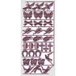 ARTchix German Scrap - Pink Symbols [G927]