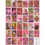 ARTchix Faux Postage Sticker Sheet - P319 Chixies' Pink Post
