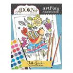 AdornIt Art Play Coloring Book - Folk Garden
