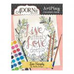 AdornIt Art Play Coloring Book - Live Simply