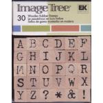 Image Tree Wood Mounted Rubber Alphabet Stamp Set - UPPERcase [ITABC/AT]
