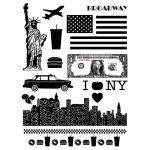 Artemio Clear Stamp Set - New York [1240]