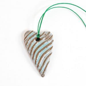 Ceramic Heart Charm [H07]