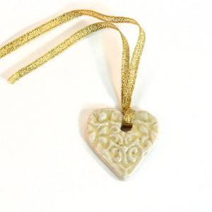 Ceramic Heart Charm [H12]