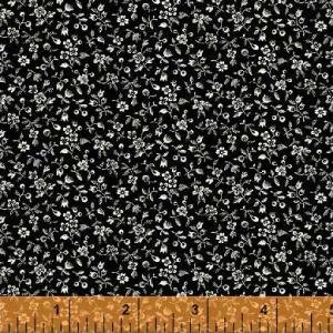 Aviary Fabric - [33567-2] Ditzy Floral - Black - ON SALE!