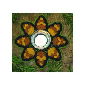 Bareroots Little Stitchies - #143 Pine Cone Candle Mat