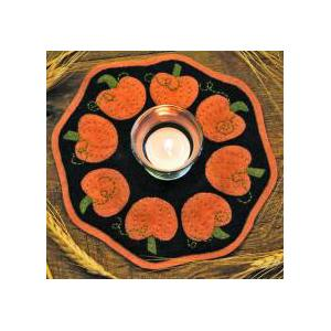 Bareroots Little Stitchies - #148 Pumpkin Candle Mat