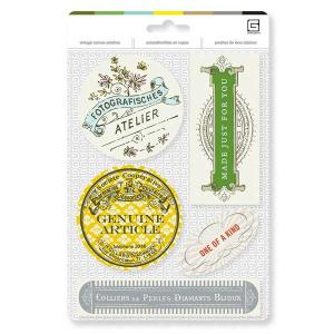 Basic Grey Vintage Canvas Patches - [FAB-8000] Atelier