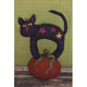 BBD - Black Cat Pumpkin Sitter #262