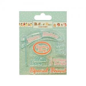 Belle & Boo Clear Stamps - Sentiments [BBCS004]