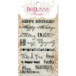 BoBunny Clear Stamp Set - Sentiments