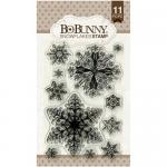 BoBunny Clear Stamp Set - Snowflakes
