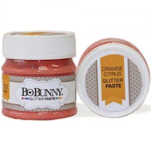 BoBunny Double Dot Glitter Paste - Orange Citrus