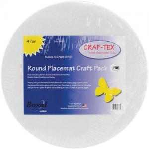 Bosal CRAF-TEX Placemat Craft Pack [PM-3] Round