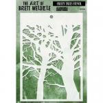 The Art Of Brett Weldele - Creepy Trees Stencil