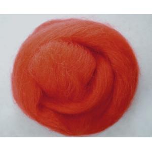 NZ Corriedale Wool - Orange