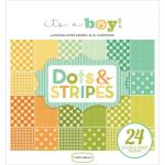 "Carta Bella 6"" x 6"" Paper Pad - It's a Boy Dots and Stripes [CBIB50030]"