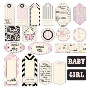 Canvas Corp Printed Tags - Baby Girl - [TAG1417]
