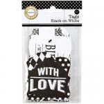 Canvas Corp Printed Tags - Black On White - [TAG1440]