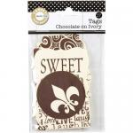 Canvas Corp Printed Tags - Chocolate On Ivory - [TAG1441]
