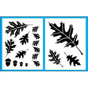 Cedar Canyon Stencils - Oak Leaves [CCT703]