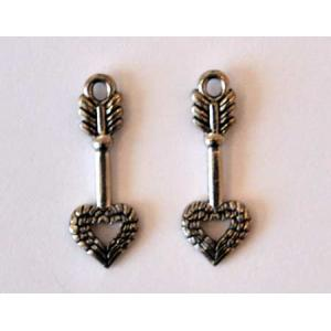 Charm: Arrow - With Angel Heart Wings [6211]