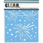 "Clear Scraps 12"" x 12"" Stencil - Fireworks Splash"