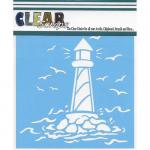 "Clear Scraps 12"" x 12"" Stencil - Lighthouse"
