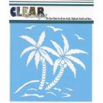 "Clear Scraps 12"" x 12"" Stencil - Summer Palm"