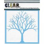 "Clear Scraps 6"" x 6"" Stencil - Bare Tree"