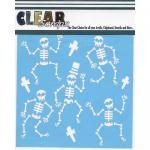 "Clear Scraps 6"" x 6"" Stencil - Happy Skeletons"