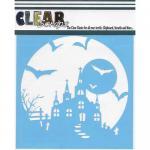 "Clear Scraps 6"" x 6"" Stencil - Haunted House"