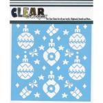 "Clear Scraps 6"" x 6"" Stencil - Holiday Bulbs"