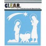 """Clear Scraps 6"""" x 6"""" Stencil - Nativity"""