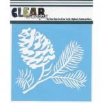 """Clear Scraps 6"""" x 6"""" Stencil - Pine Cone"""