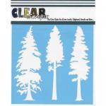 "Clear Scraps 6"" x 6"" Stencil - Pine Trees"