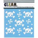 """Clear Scraps 6"""" x 6"""" Stencil - Pirate Skulls"""