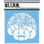 "Clear Scraps 6"" x 6"" Stencil - Swirl Pumpkin"