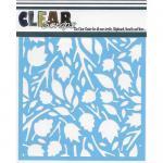 "Clear Scraps 6"" x 6"" Stencil - Twig Leaves"