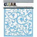 "Clear Scraps 6"" x 6"" Stencil - Twinkle Flourish"
