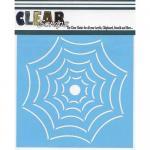 "Clear Scraps 6"" x 6"" Stencil - Widow Web"