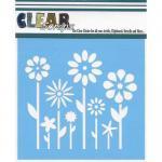"Clear Scraps 6"" x 6"" Stencil - Spring Floral"