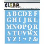 "Clear Scraps 6"" x 6"" Stencil - Capital ABCs"